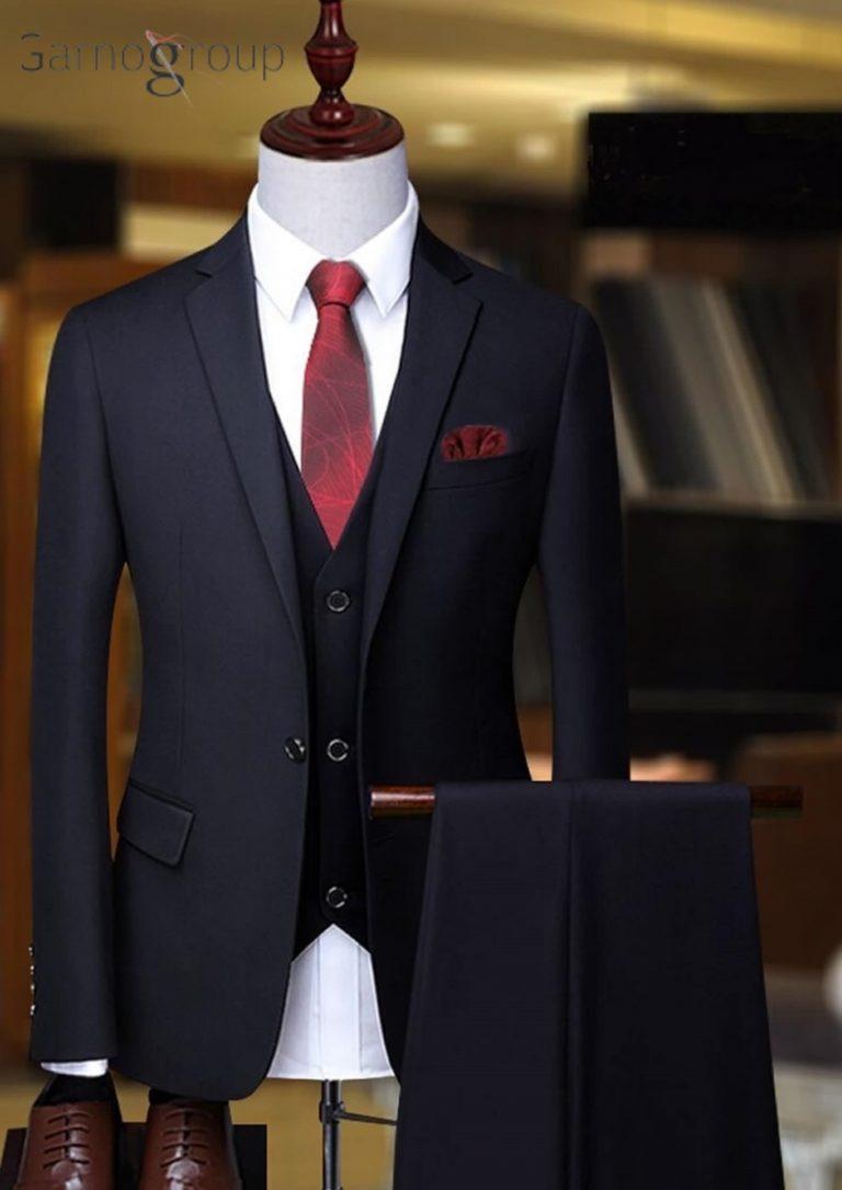 black suit with white shirt , Men's Parliamentary Suit