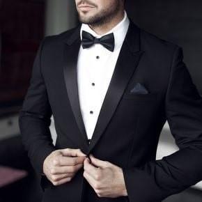black suit , Archal collar suit