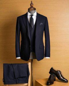 черный шерстяной костюм, Мужские вечерние костюмы