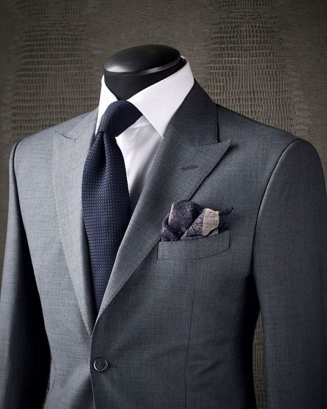 charcoal suit with white shirt