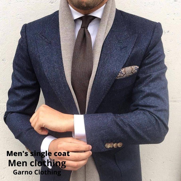 Пальто мужское одиночное