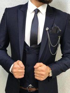 Блайзер воротник костюм с жилетом